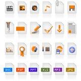 24 ícones do arquivo Foto de Stock