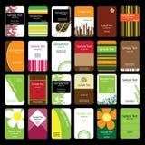 24 вертикали визитных карточек цветастых Стоковое фото RF