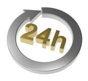 24 знака часов поставки Стоковые Фото