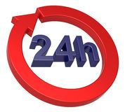 24 знака часов поставки Стоковые Изображения RF