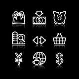 24 иконы установили сеть белой Стоковое Изображение
