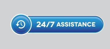 24 кнопки помощи часа Стоковое Изображение RF