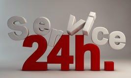 24 обслуживания h Стоковое Изображение