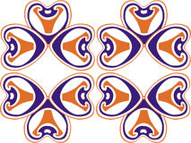 24 орнамента цвета Стоковые Изображения
