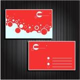 24 установленной визитной карточки Стоковое фото RF