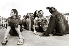 24 2009 barn cuba kubanska havana januari Arkivbilder