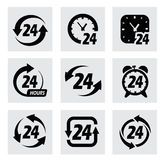 Διανυσματικά σύμβολα 24 ωρών Στοκ εικόνες με δικαίωμα ελεύθερης χρήσης