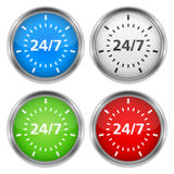 24/7 Badges Stock Photos