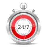 24/7 Concept Royalty Free Stock Photography