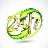 24/7 illustration Royalty Free Stock Images