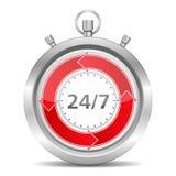 24/7 Konzept Lizenzfreie Stockfotografie