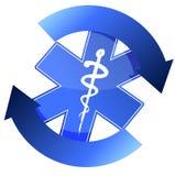 24/7 medical service illustration sign Stock Images