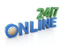 24/7 online Stock Image