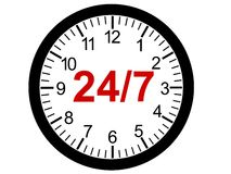 24/7 Opening Concept Royalty Free Stock Photography