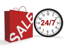 24/7 Shopping Concept Stock Photo