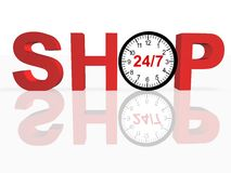 24/7 Shopping Concept Royalty Free Stock Image