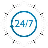 24/7 Sign Royalty Free Stock Photo