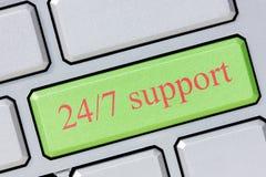 24/7 steun Stock Foto's