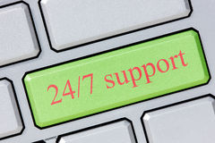 24/7 Support Stockfotos