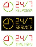 24/7 vector icon. 24/7 service concept. Vector image Royalty Free Stock Image