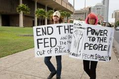 24 anti apec honolulu занимает протест Стоковая Фотография