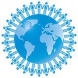 24 blåa globala teamwork Royaltyfri Bild