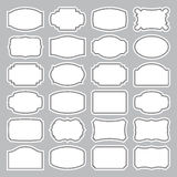 24 blank labels set (vector). Set of 24 blank retro labels, scalable and editable vector illustrations stock illustration