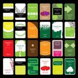 24 bunte vertikale Visitenkarten Stockbilder