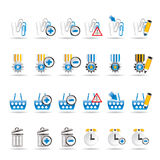 24 Business, office and website icons. Icon set 1 Royalty Free Stock Image