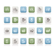 24 Business, office and website icons Stock Photo