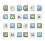 24 Business, office and website icons Royalty Free Stock Photography