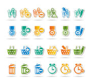 24 Business, office and website icons Stock Images