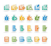 24 Business, office and website icons Stock Photos