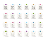 24 Business, office and website icons. Icon set 2 Stock Photos