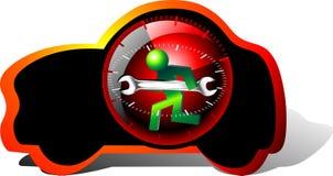 24 carros da manutenção da hora Imagem de Stock