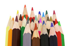 24 color pencils Royalty Free Stock Image
