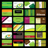 24 Colorful Business Cards Stock Image