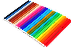 24 colours pens Royalty Free Stock Photography