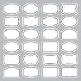 24 conjuntos de escrituras de la etiqueta en blanco () Fotos de archivo libres de regalías
