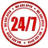 24 cztery otwartych dwadzieścia Obrazy Stock