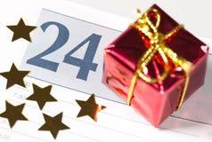 24 en un calendario Imágenes de archivo libres de regalías