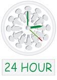 24 genti di ora che lavorano Clock_eps Immagini Stock Libere da Diritti