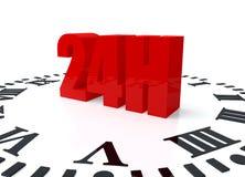 24 godzina Zdjęcie Stock