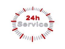 24 godziny usługa znaka ilustracji