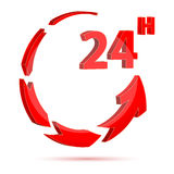 24 hour icon. Illustration of 24 hour icon Royalty Free Stock Photo