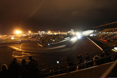 24 HOUR RACE NUERBURGRING AT NIGHT Stock Images