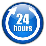 24 hour service. Twenty four hours service logo Royalty Free Stock Photo