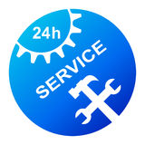 24 hour service. Illustration of 24 hour service icon on white background Royalty Free Stock Photos