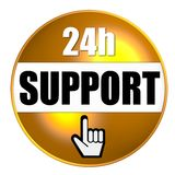 24-hour support graphic. Graphic of 24-hour support; good image for customer service Royalty Free Stock Photos