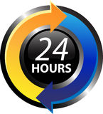24 hours. 24 hours icon isolated on the white background Royalty Free Stock Photography